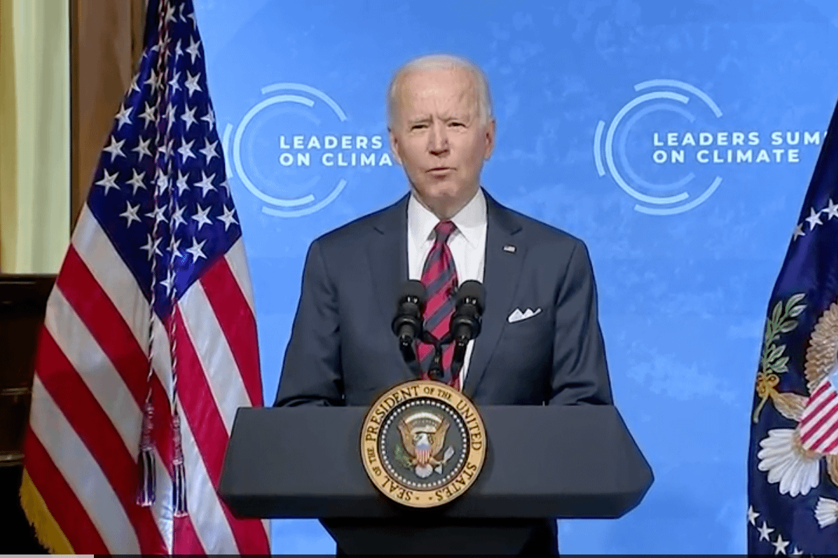 Biden speaking climate summit