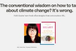 CCR The conventional wisdom on how to talk about climate change? It's wrong.