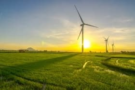 Electricity generated by wind turbines