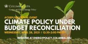CCR Climate Policy under Budget Reconciliation