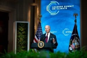 Biden climate summit speaking