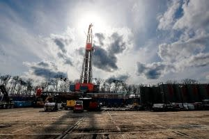 A gas drilling site in Elk County