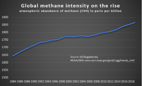 Global methane intensity